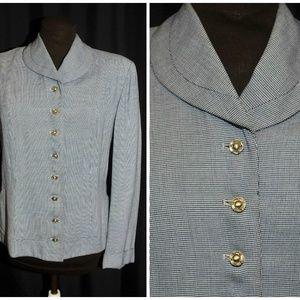 Vintage 50's Equestrian Style Blazer Jacket MED
